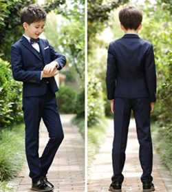 APXPF Boys Formal Suits 5 Piece Slim Fit Dresswear Suit Set