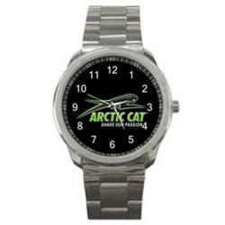 Arctic Cat Snowmobiles Logo Sport Metal Watch