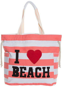 Pier 17 Beach Bags – Extra Large Waterproof Canvas Striped Beach Bag Tote For Women  pink  ...