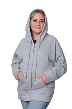 c80cf0c78ad13 Beverly Rock Womens Plus Size Heavyweight Active Fleece Full Zip-Up  Sweatshirt