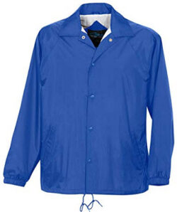 Big Mens Coach Jacket with Water Resistant Shell by Tri-Mountain, imperial blue