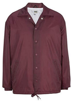 P & J Big & Tall Linded Windbreaker, wine