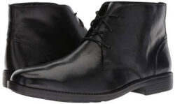 Bostonian Men's Birkett Mid Chukka Boot black leather