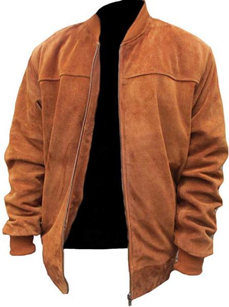 Classyak Men's Fashion Slimfit Suede Real Leather Bomber Jacket
