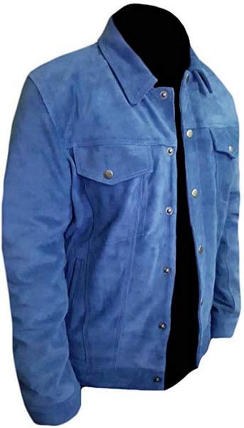 Classyak Men's Fashion Stylish Jacket Suede Leather Coat