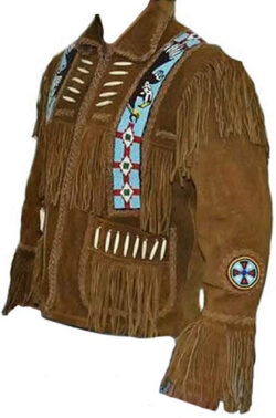 Classyak Western Leather Jacket with Fringes for Men – A Grade Suede Leather