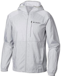 Columbia Men's Standard Flash Forward Windbreaker Print, Cool Grey Camp fire, L