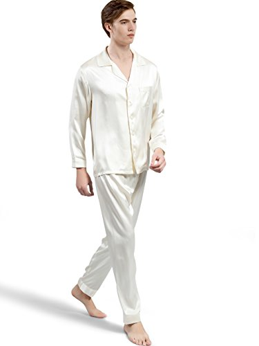 dc36532a4f ElleSilk Men s Silk Pajama Set