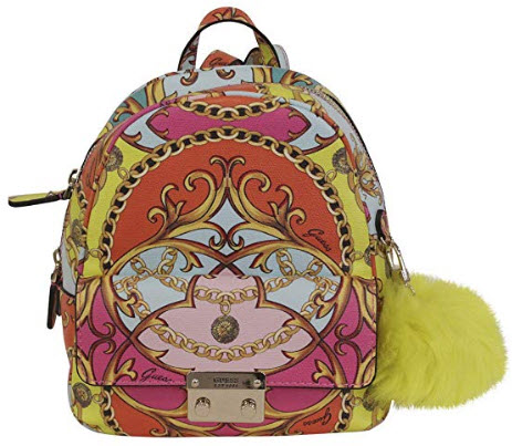 f81de93e4e2b GUESS Jori Printed Bowery Backpack, coral multi | FashionMeThat