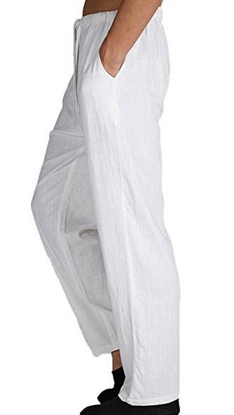 Insun Men's Solid Big and Tall Linen Drawstring Elastic Wais ...