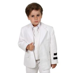 Johnnie Lene Boys Cotton/linen Blend Suit From Baby to Teen