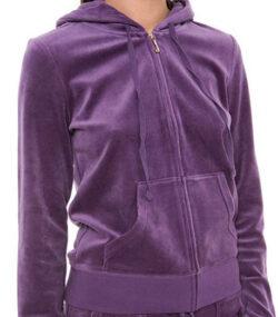 Juicy Couture Black Label Womens Velour Robertson Hoodie Jacket