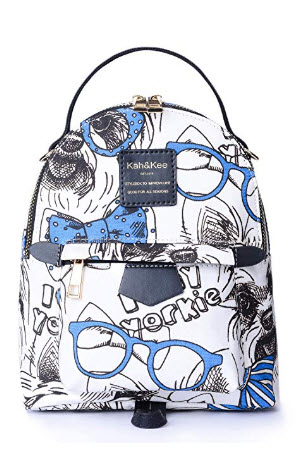 Kah&Kee Mini Backpack Purse for teen Girls Women Casual Canvas Removable Straps