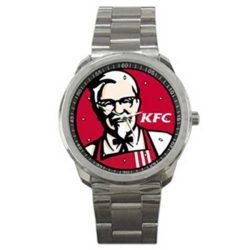 KFC Kentucky Fried Chicken Colonel Sanders Logo Sport Metal Watch
