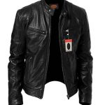 GUESS Men's Faux Leather Hooded Moto Jacket. | FashionMeThat