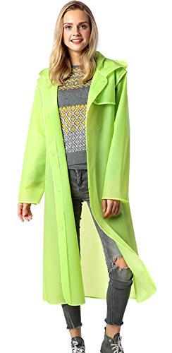 31c4b6751e4 Laxllent Women Men Unique Transparent Long Lightweight Waterproof Raincoat  With Hood Rainwear