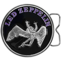 Led Zeppelin – Mens Led Zeppelin – Circle Swan Belt Buckle Black by Old Glory