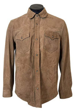 Massimo Dutti Men Suede Overshirt with Pockets 3308/239/742