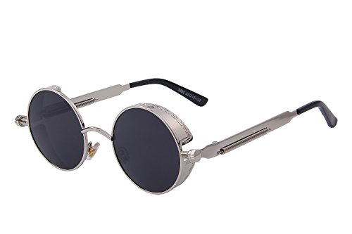 29f2a822d113 MERRY S Gothic Steampunk Sunglasses for Women Men Round Lens Metal Frame  S567