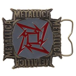 Metallica – Mens Metallica – Square Star Belt Buckle Silver by Old Glory