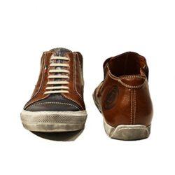 Modello Emiliano – Handmade Italian Mens Brown Fashion Sneakers Casual Shoes – Cowhi ...