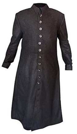 Zibco Neo Keanu Reeves Full Length Woolen Trench Coat