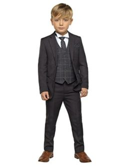 Paisley of London, Boys grey suit, Page boy suits, Boys check waistcoat, 12-18 months – 13 ...