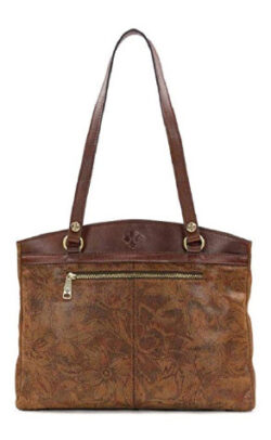 Patricia Nash Women's Brown Napa Etched Floral Collection Poppy Tote