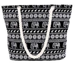Pulama Women Beach Tote Canvas Shoulder Bag Anchor Summer Handbag Top Handle Bag Straw Beach Bag ...