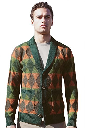 Revolution Now Sweater Mens Knitted Shawl Collar Plaited Di