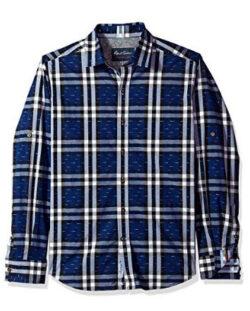 Robert Graham Men's Auden Long Sleeve Tailored Fit Sport Shirt, navy