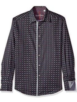 Robert Graham Men's Las Palmas Classic Fit Sport Shirt, black