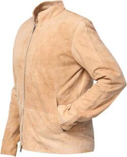 RSH Leathercraft Morocco Daniel Craig Blouson Fawn Suede Leather Jacket