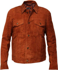 RSH LeathercraftHugh Jackman Tan Brown Real Suede Leather Jacket