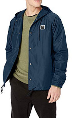 RVCA Men's Va Hood Coach Jacket, new navy