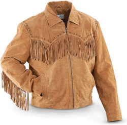Scully Men's Boar Suede Fringe Jacket – 221-19