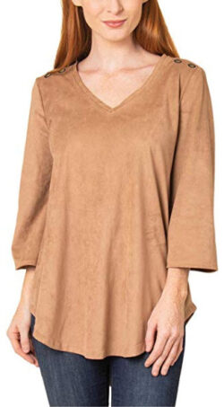 Simply Noelle Wild Instincts All Suede Top