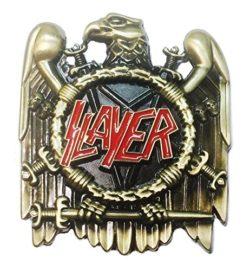 Slayer Thrash Metal Band Metal/Enamel Belt Buckle by Main Street 24/7