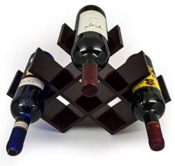Sorbus Wine Rack Butterfly – Stores 8 Bottles of Wine – Sleek and Chic Looking ̵ ...