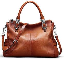 S-ZONE Women's Vintage Genuine Leather Handbag Shoulder Bag Satchel Tote Bag Purse Crossbo ...