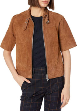 Theory Women's Lavzinie Wilmore Suede Jacket