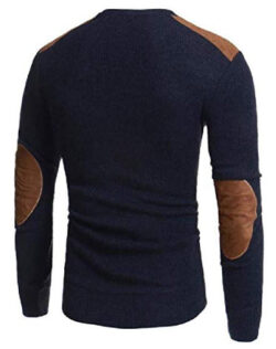 Tralounry Men Fit Fall Winter Faux Suede Big & Tall Knitting Blouse T-Shirt Tops