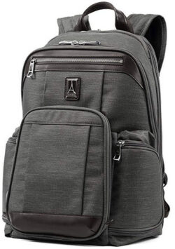 Travelpro Luggage Platinum Elite 17.5″ Business Computer Backpack vintage grey