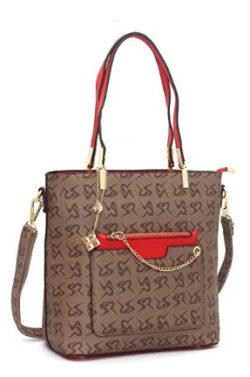 Vismiintrend Fashion PU Tote Messenger Satchel Weekend Shopping Bag Printing Shoulder Bag – ...