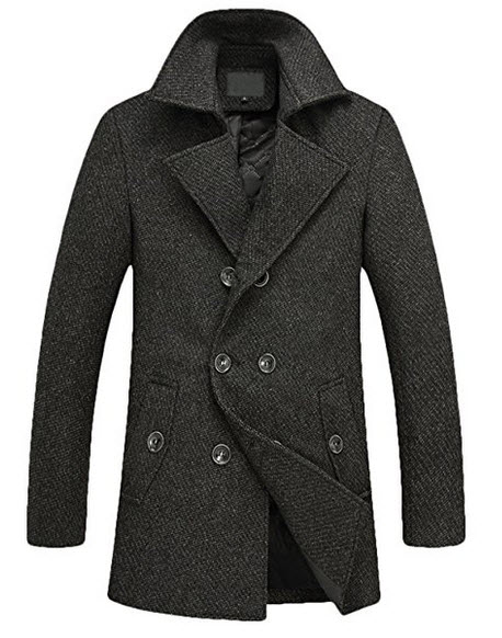 Men's Fitted Pea Coat