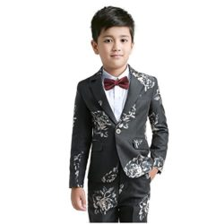 Yuanlu Formal Boys Suit Kids Toddler Dresses Tuxedo Suits Blazer Pants Vest Shirt and Bow Tie