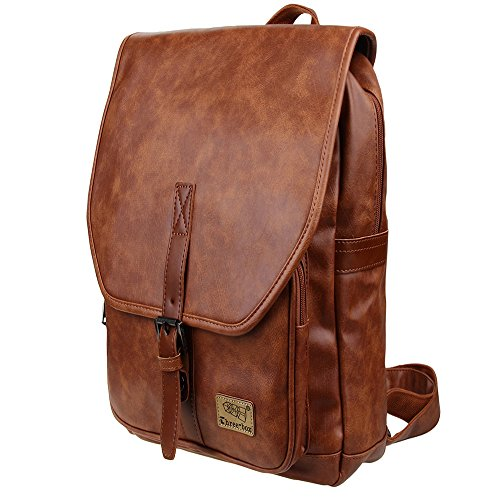 df51c8a46ac4 Zebella Unisex Vintage PU Leather Backpack School College Bookbag Laptop
